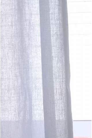 Transparente leinen look off weiß