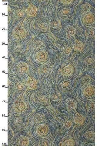 Gobelin, van Gogh Wolken blau