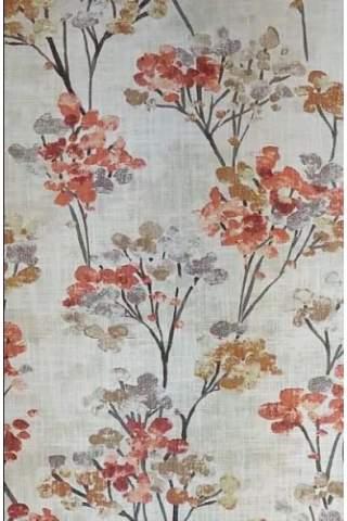 Blüte Blatt brique ocker linnen