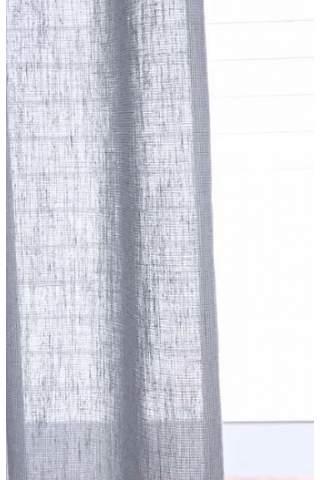 Transparent Leinen look hellgrau weiß