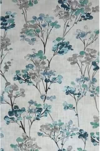 Blüte Blatt eisblau türkis Leinen