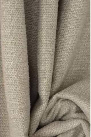 Zenith warm beige - Samt leinen look