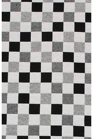 Gobelin, Quadrat schwarz grau weiß