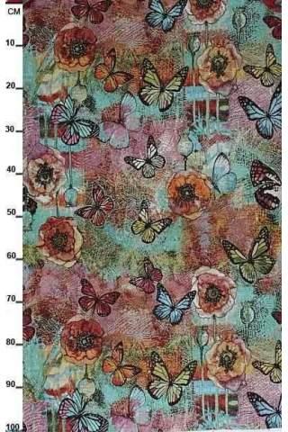 Gobelin, Schmetterling türkis