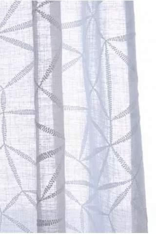 Transparente abstrakt aus weißem grobem Leinen
