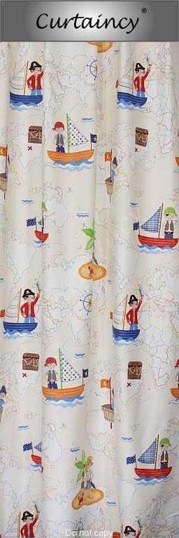piraten schatzkarte kinder vorh nge kindervorhang curtaincy. Black Bedroom Furniture Sets. Home Design Ideas